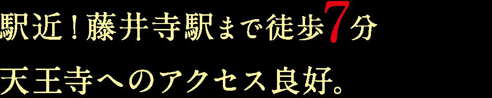 駅近!藤井寺駅まで徒歩7分天王寺へのアクセス良好。
